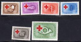 Hongrie 1957 Yvert 1218 / 1223 ** Neufs Sans Charniere. En Hommage Aux Services Postaux. - Ungarn