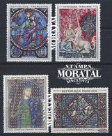 1964 Frankreich Mi# 1487, 1492, 1504, 1513  ** Perfekter Zustand. Kunstwerke (Michel)  Art - France
