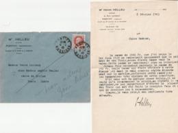 56 PONTIVY Correspondance H HELLEU Avoué 1943 - France