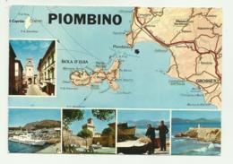 PIOMBINO - DA CARTA DEL TOURING ITALIANO - VIAGGIATA    FG - Livorno