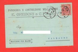 Schio Officine & Fonderie Gregori Viaggiata Per Valdagno 1912 - Trade