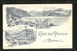 AK Montreux, Hôtel Des Palmiers, Panorama - VD Vaud
