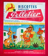 Buvard Biscottes PELLETIER, Les Aventures De BISCO N° 7, Bisco En Argentine, Signé Pesch - Biscottes