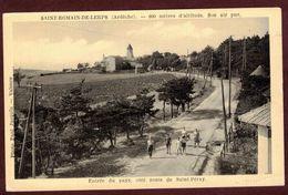 Saint-Romain-de-Lerps - Route De St Péray Animée  Ardèche 07130 * St Romain De Lerps Arrondissement De Tournon-sur-Rhône - Autres Communes
