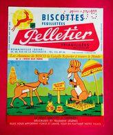 Buvard Biscottes PELLETIER, Les Aventures De BISCO N° 3, Bisco En Inde, Signé Pesch - Biscottes