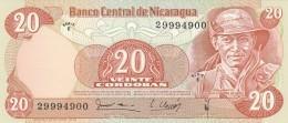 NICARAGUA 20 CORDOBAS -UNC - Nicaragua