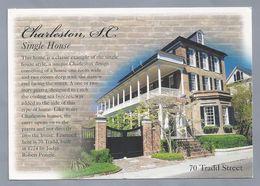 US.- SOUTH CAROLINA, CHARLESTON. SINGLE HOUSE. 70 TRADD STREET. - Charleston