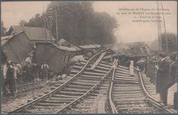 Déraillement De L'express De Cherbourg En Gare De Bernay , état De La Voie , Animée - Bernay