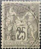 N° 97 Sage 25c Noir Sur Rose. Oblitéré CàD - 1876-1898 Sage (Type II)