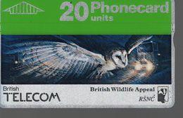 ROYAUME UNI -Télécarte BRITISH TELECOM - 20 Units Phonecard - Ver. Königreich
