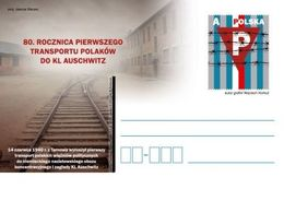 Poland 2020 80th Anniversary Of The First Transport Of Poles To Auschwitz Postcard - 1944-.... Republic