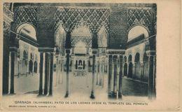 GRANADA. ALHAMBRA. PATIO DE LOS LEONES DESDE EL TEMPLETE DE PONIENTE - Granada