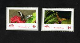 BRD - Privatpost - Brief Und Mehr - 2 W - Schmetterlinge Butterfly - Papillons