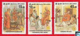 Sri Lanka Stamps 2020, Vesak, Buddha, Buddhism, Medical, MNH - Sri Lanka (Ceylon) (1948-...)