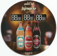 ZAJECARSKO PIVO BEER ZAJECAR BREWERY SERBIA Plastic Coaster  Heineken Group - Sous-bocks