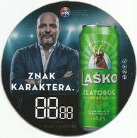 LASKO PIVO Plastic Beer Coaster From Serbia - Sous-bocks