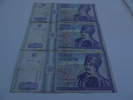 Lot De 3 Billets 5000 LEIS ROUMANIE  1993 - Rumänien
