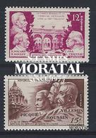 1951 Francia Yv# 897/898  **MNH  Perfecto Estado. Medicina Militar (Yvert&Tellier)  Medicina - Francia