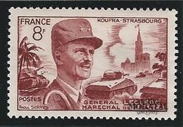 1953 Francia Yv# 942  *MH  Buen Estado. Philippe De Hautecloque (Yvert&Tellier)  Personajes - Francia