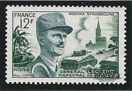 1954 Francia Yv# 984  **MNH  Perfecto Estado. Mariscal Leclerc (Yvert&Tellier)  Personajes - Francia