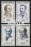1958 Francia Yv# 1142/1145  *MH  Buen Estado. Grandes Médicos (Yvert&Tellier) - Francia