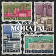 1958 Francia Yv# 1152/1155  *MH  Buen Estado. Ciudades Reconstruidas (Yvert&Tellier) - Francia