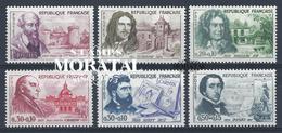 1960 Francia Yv# 1257/1262  **MNH  Perfecto Estado. Personajes (Yvert&Tellier)  Personajes - Francia