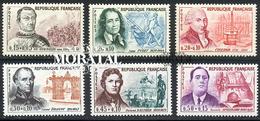 1961 Francia Yv# 1295/1300  **MNH  Perfecto Estado. Personajes (Yvert&Tellier)  Personajes - Francia