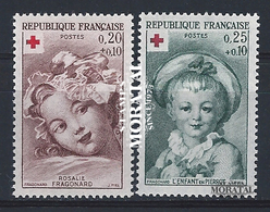 1962 Francia Yv# 1366/1367  **MNH  Perfecto Estado. Cruz Roja (Yvert&Tellier)  Cruz Roja - France