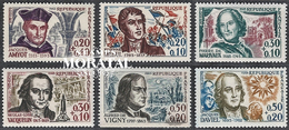 1963 Francia Yv# 1370/1375  **MNH  Perfecto Estado. Personajes (Yvert&Tellier)  Personajes - Francia