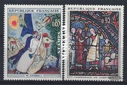 1963 Francia Yv# 1398/1399  **MNH  Perfecto Estado. Arte (Yvert&Tellier)  Arte - France