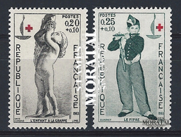 1963 Francia Yv# 1400/1401  **MNH  Perfecto Estado. Cruz Roja (Yvert&Tellier)  Cruz Roja - France