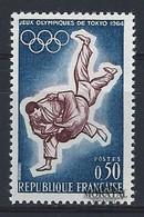 1964 Francia Yv# 1428  **MNH  Perfecto Estado. J.O. Tokio (Yvert&Tellier)  Deportes - France