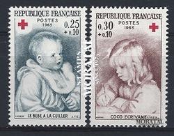 1965 Francia Yv# 1466/1467  **MNH  Perfecto Estado. Cruz Roja (Yvert&Tellier)  Cruz Roja - France