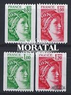 1978 Francia Yv# 1980/1981B  **MNH  Perfecto Estado. Sabine (Yvert&Tellier)  Serie General - Neufs