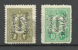 GREECE MYTILENE 1912 Michel 1 & 3 * - Local Post Stamps