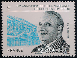 2011 Francia Yv# 4561  **MNH  Perfecto Estado. George Pompidou (Yvert&Tellier)  Turismo - Neufs