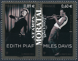 2012 Francia Yv# 4671/4672  **MNH  Perfecto Estado. Edith Piaf (Yvert&Tellier)  Deportes - Neufs