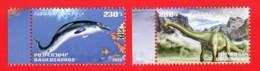 Armenien/Armenie/Armenia 2020, Fauna Of The Ancient World, Basilosaurus Diplodocus, Dinosaur  - MNH - Stamps