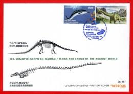 Armenien/Armenie/Armenia 2020, Fauna Of The Ancient World, Basilosaurus Diplodocus, Dinosaur - FDC - Préhistoriques