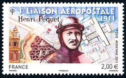 2011 Francia Yv# 74 Aereo  **MNH  Perfecto Estado. Unión Aeropostal Henri Péquet (Yvert&Tellier) - 1960-.... Mint/hinged