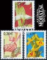 2007 Francia Yv# 250/252 Preobliteres  **MNH  Perfecto Estado. Flores.- Orquideas (V) (Yvert&Tellier) - 1989-....