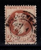 Lauré YV 26B Oblitere , Centrage Correct , Belle Nuance , Pas Aminci TTB Cote 55+ Euros - 1863-1870 Napoleon III With Laurels