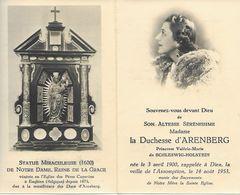 ENGHIEN IMAGE MORTUAIRE DUC ENGELBERT MARIE D'AREMBERG - Décès