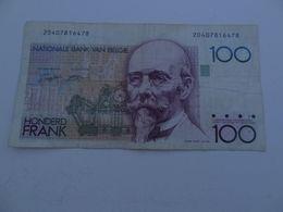 Billet De 100 Francs Belgique Undated - 100 Franchi