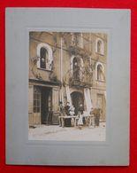 66 Pyrénées Orientales Menuisier Catalan Et Son établi Roussillon Photo Sur Carton 24.5x19.5cm Sans éditeur Catalunya - Métiers