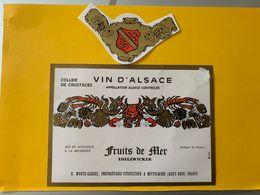 15091  -  Alsace  Edelzwicker Fuits De Mer R.Wurtz-Sigrist - Etiquettes