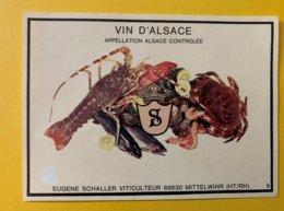 15094  -  Alsace  Eugene Schaller   Crustacés - Etiquettes