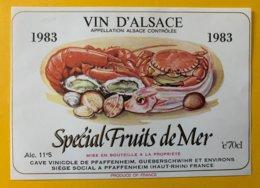 15096  -  Alsace  1983 Spécial Fruits De Mer - Etiquettes