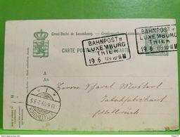 Entier Postaux, Oblitéré Ettelbruck 1909. Bahnpost II - Postwaardestukken